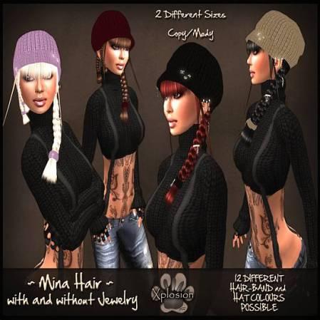 _X_plosion Mina Hair