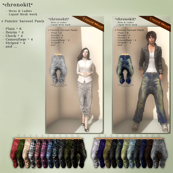 chronokit_ Painter Sarouel Pants _Poster_
