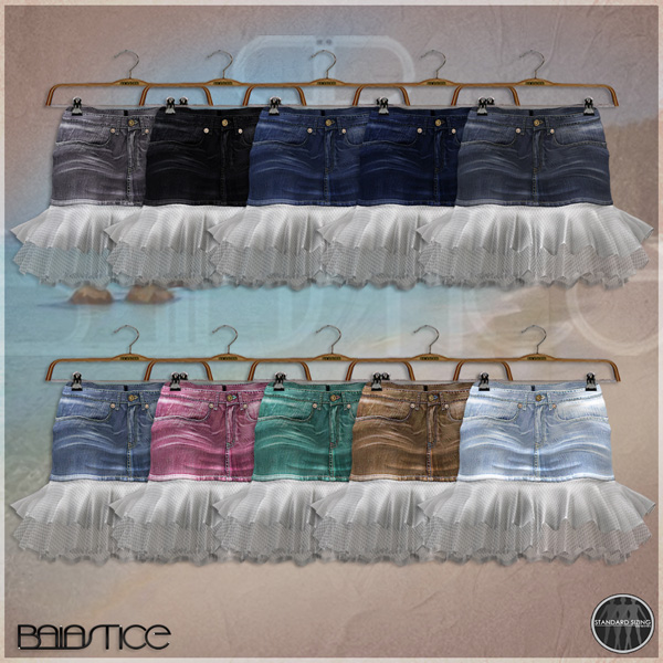 Baiastice_Denim Tulle skirt-colors