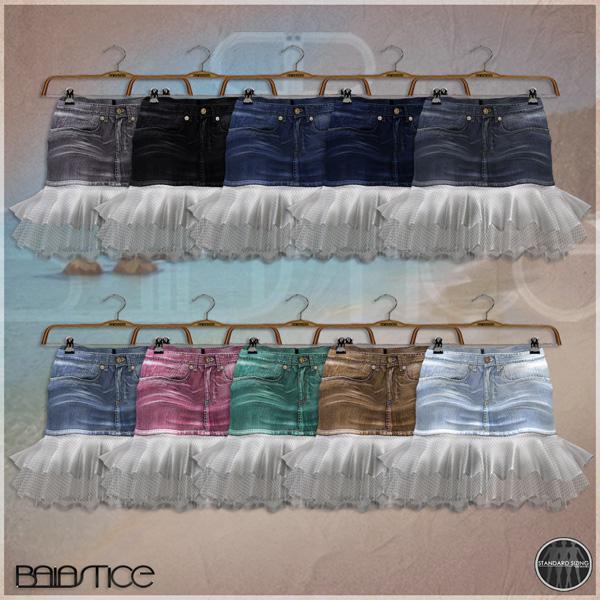 Baiastice_Denim Tulle skirt-colors