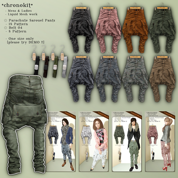 chronokit_ Parachute Sarouel Pants Poster