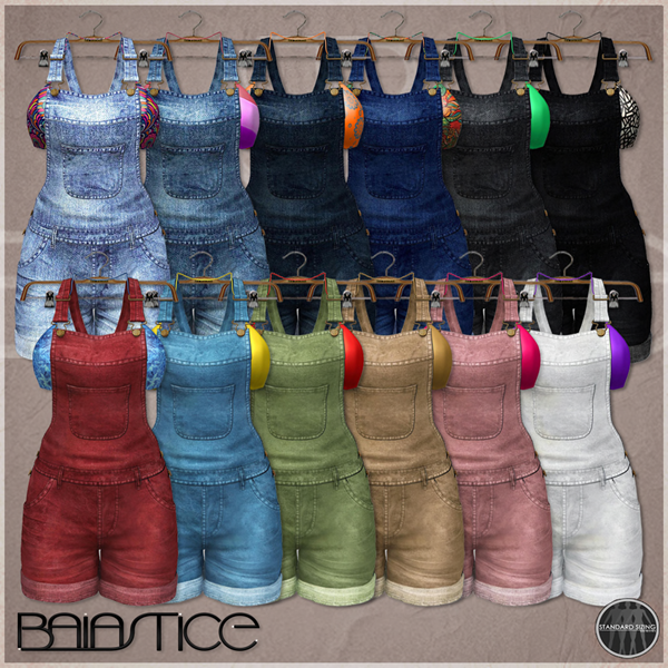 Baiastice_short denim salopette-all colors