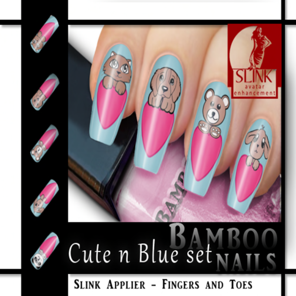 Bamboo] Nails Slink - Cute n Blue Set Poster