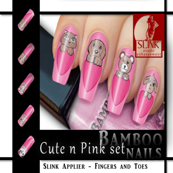 Bamboo] Nails Slink - Cute n Pink Set Poster