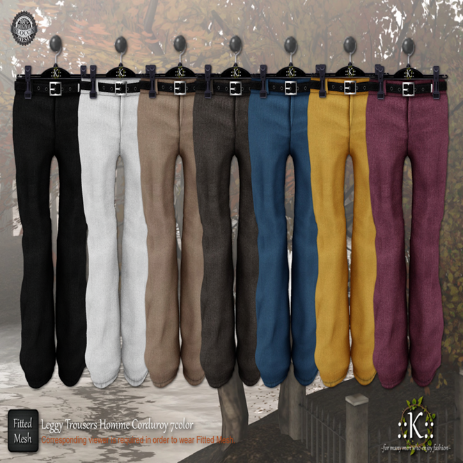 K__ Leggy Trousers Homme 7Color