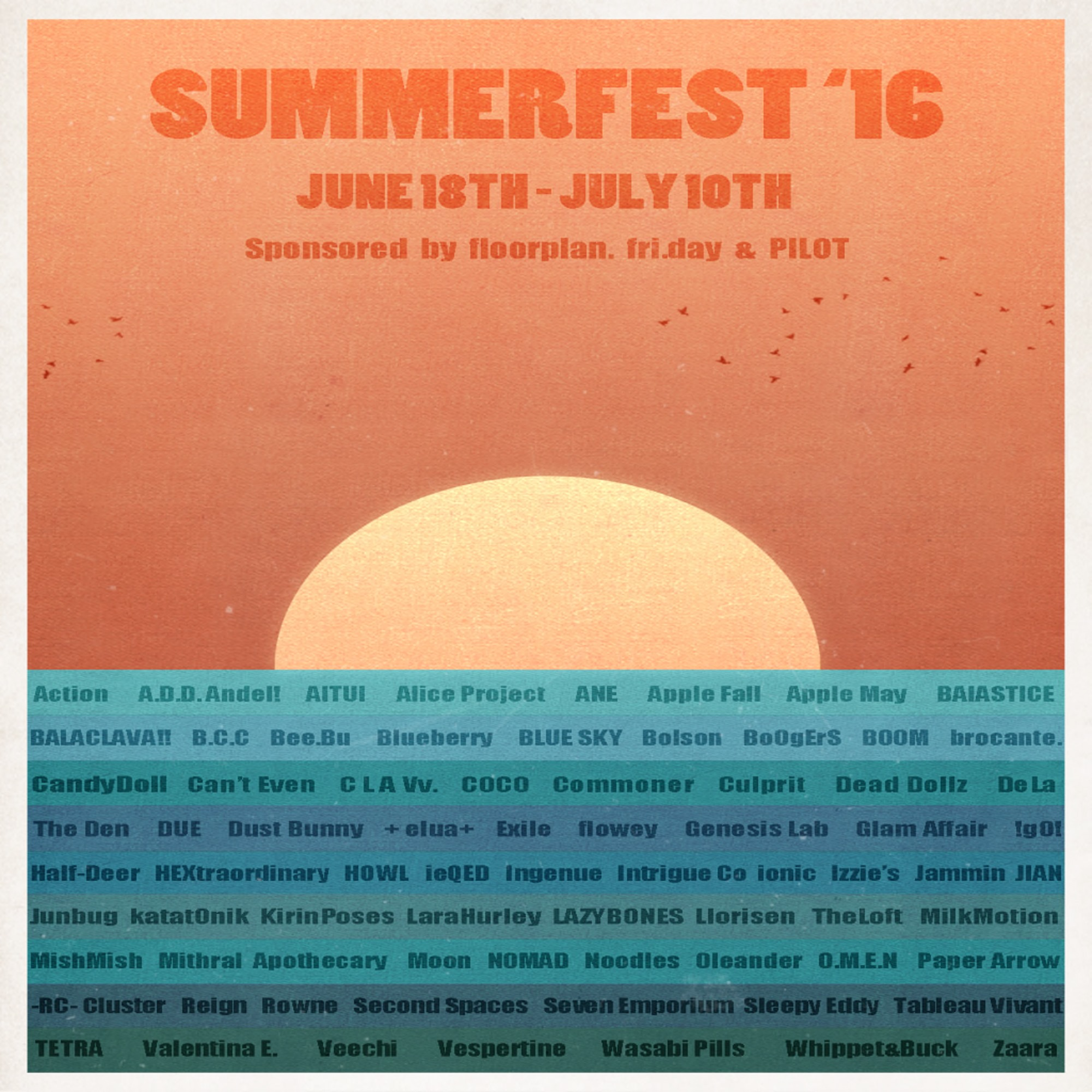 Summerfest '16 Poster - Official Line-up